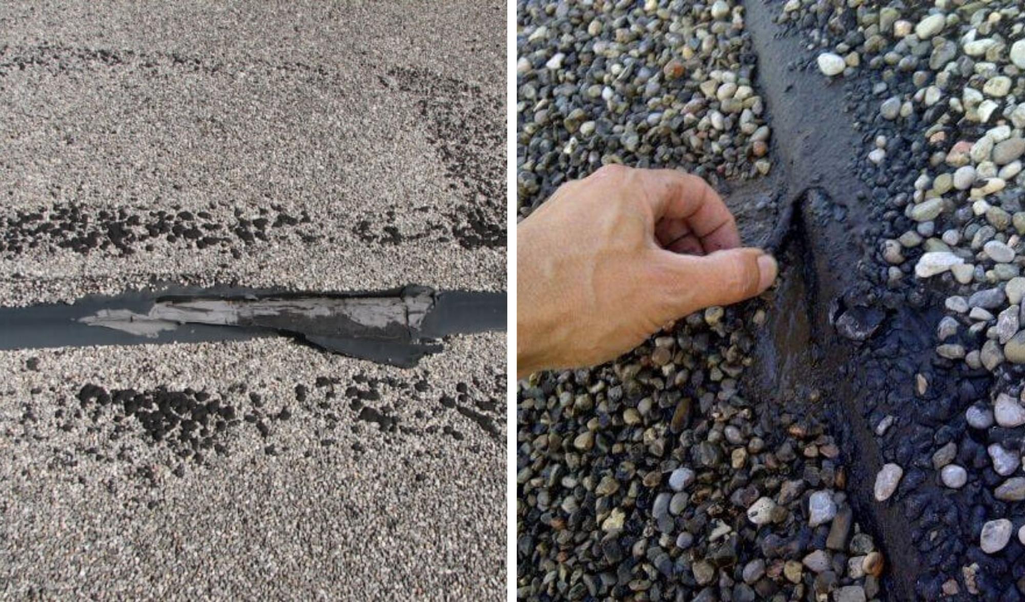 Entretien toit plat asphalte gravier