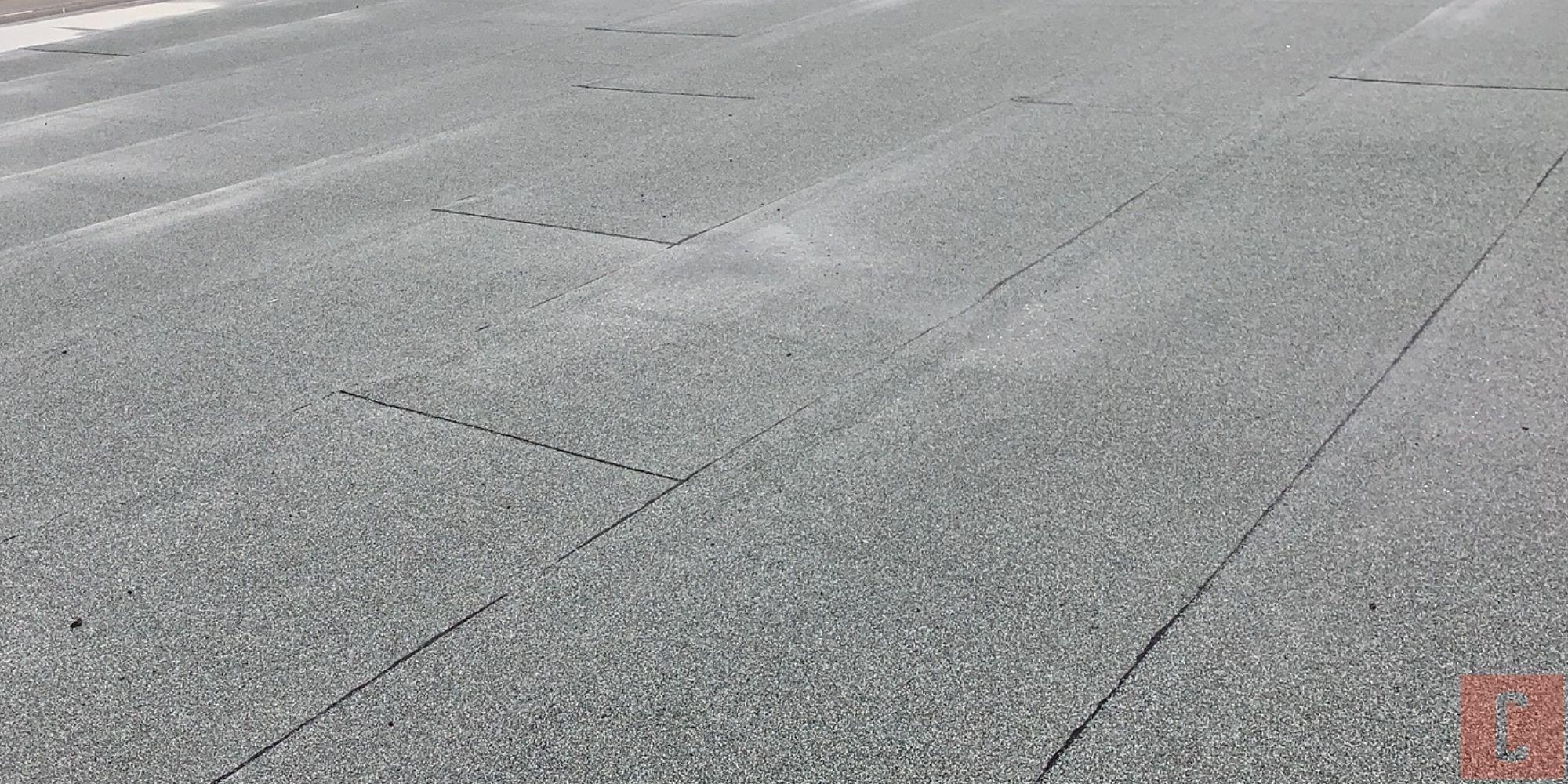 Membrane de toit plat en bon état