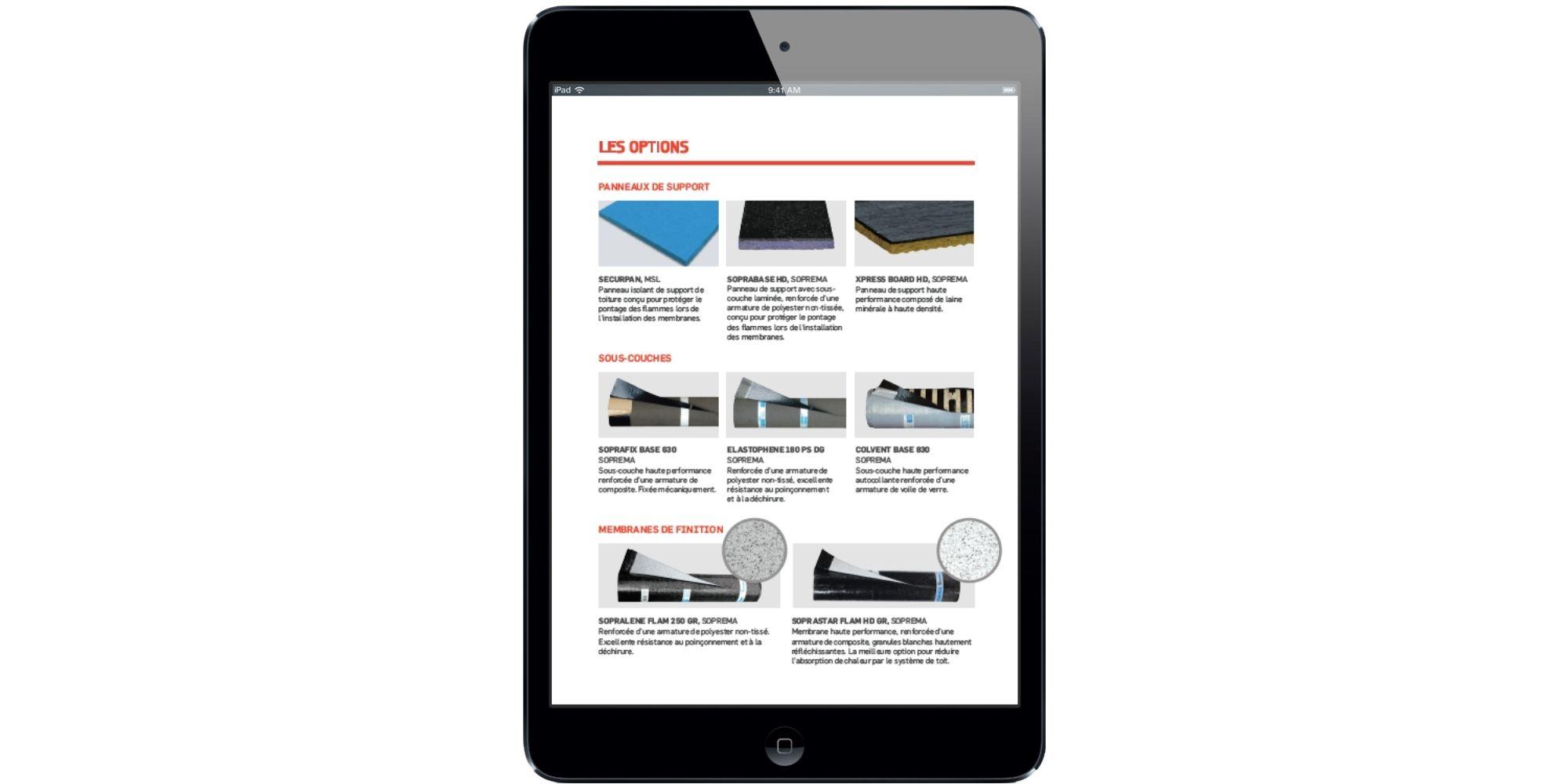Options de membranes pour toit plat